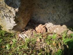 Grenadă defensivă neexplodată descoperită în Comuna Dieci