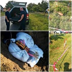 După ce a fost plimbată și cu bicicleta, vestita bombă a fost distrusă cu succes