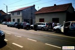 FOTO Tamponare în lanț pe Cocorilor vineri după-masa