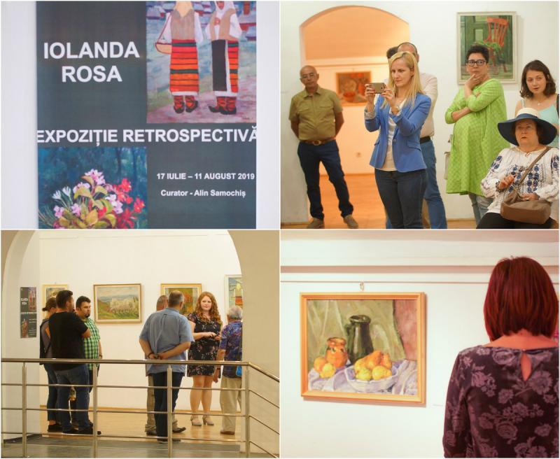 Pictorița arădeancă Iolanda Rosa, apreciată în urma unei expoziții retrospective de succes la Muzeul Etnografic al Transilvaniei