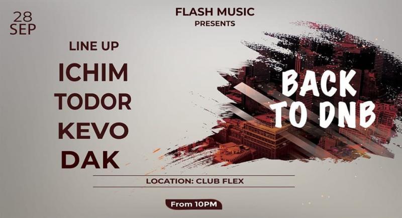 """Back to DNB""; drum and bass, sâmbătă, în Club Flex"