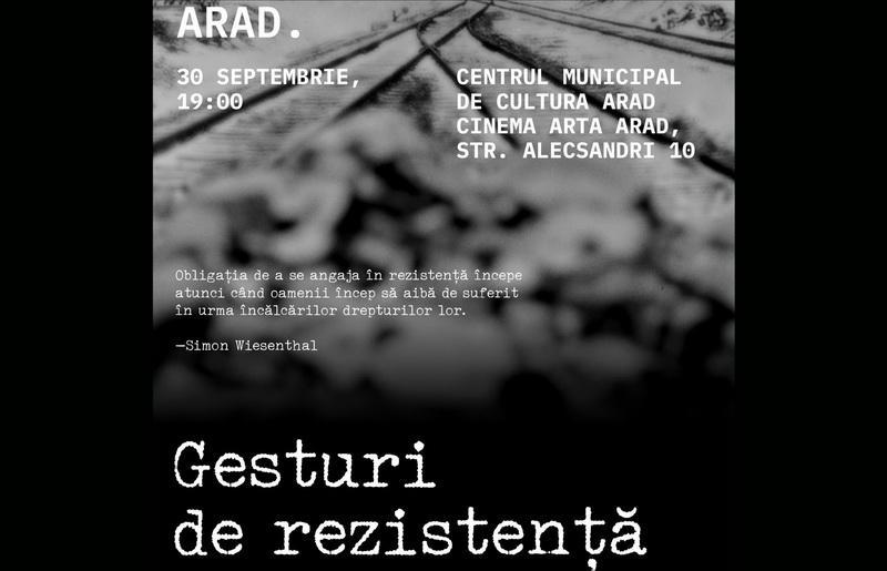 """""""GESTURIDE REZISTENȚĂ""""  un film documentar despre rezistenţa evreiască antifascistă la Cinema Arta"""