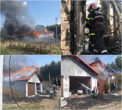 Incendiu violent la o casă din Sânpaul