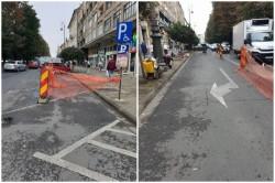 Lucrările de reabilitare a rețelei de canalizare în zona centrală continuă și cauzează  noi restricții de circulație
