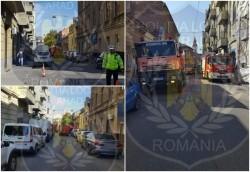 Trafic fluidizat de poliţiştii locali pe strada Ştefan Cicio Pop