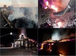 Incendiu VIOLENT la un depozit de cereale din Sântana!
