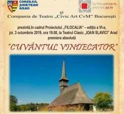 """Programul """"Filocalia"""" ediția a VI-a aduce la Arad spectacolul """"Cuvântul Vindecător"""""""
