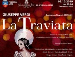 Opera La Traviata de Giuseppe Verdi deschide stagiunea 2019 - 2020 a Filarmonicii de Stat Arad