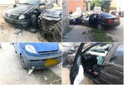 Accident cu trei mașini și o alcoolemie de 1,08