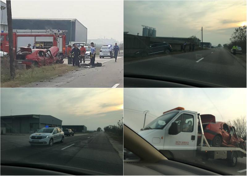 Grav accident la intrare în Sântana
