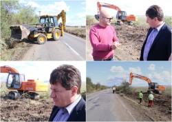 Au început lucrările pe drumul Pâncota-Buteni