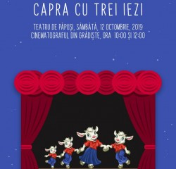"""Piesa de teatru de păpuși """"Capra cu trei iezi"""", la Cinematograful din Grădiște"""
