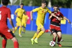 """Miculescu, """"înger și demon"""" pentru România U19 în remiza cu Serbia: tânărul utist a marcat, dar a și ratat un penalty pe final de meci"""