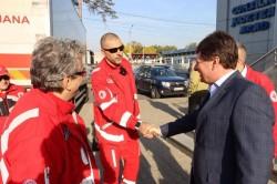 O delegaţie a filialei de Cruce Roşie din Sassuolo- Modena, Italia, s-a aflat luni în vizită la Consiliul Județean Arad