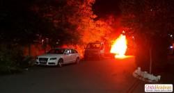 Autoturism de teren INCENDIAT luni noaptea lângă Adora Park