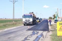 În câteva zile, modernizarea drumului județean Pâncota-Seleuș va fi finalizată