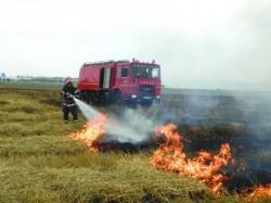 ISU Arad a stins în doar 2 luni, 53 de incendii de vegetație uscată