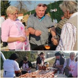 Familia Istrate Dan din Mândruloc, împreună localnici și gospodine au pregătit sute de borcane cu zacuscă pentru familii nevoiașe