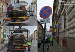 Atenție șoferi! Oprirea este interzisă pe Unirii