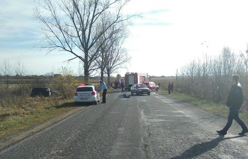Grav accident cu victime încarcerate la Bocsig. Elicopterul SMURD a fost solicitat