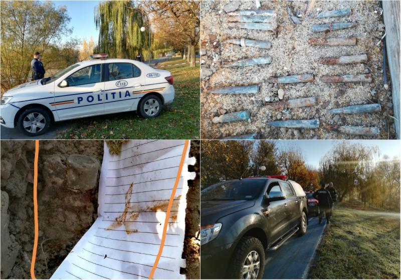 Alertă în Arad! Au fost descoperite 23 de cartușe și o GRENADĂ pe Malul Mureșului care prezintă PERICOL