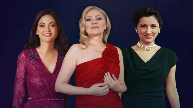 CELE TREI DIVE pe o scenă cu istorie din România. Ruxandra Donose, Teodora Gheorghiu şi Ileana Tonca în concert la Palatul Cultural din Arad