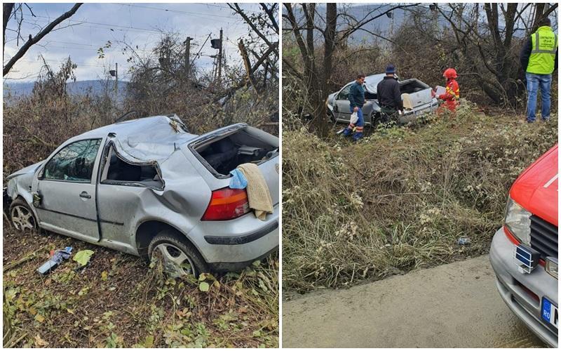 Accident în Localitatea Batuța! Două persoane încarcerate! Intervine elicopterul SMURD