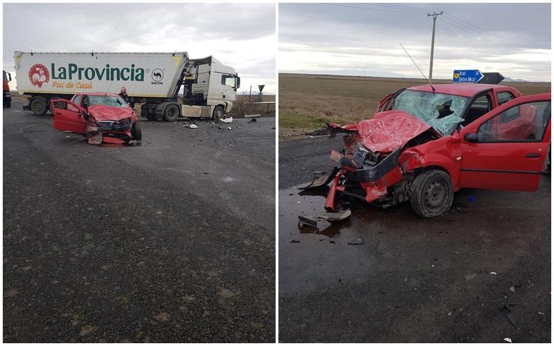 Accident între Zărand și Sintea Mica, una persoană încarcerată!
