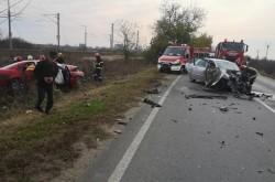 Accident grav pe drumul județean Arad – Curtici cu două victime încarcerate