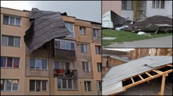 Zeci de familii disperate ! Acoperișuri și mașini distruse de vânt