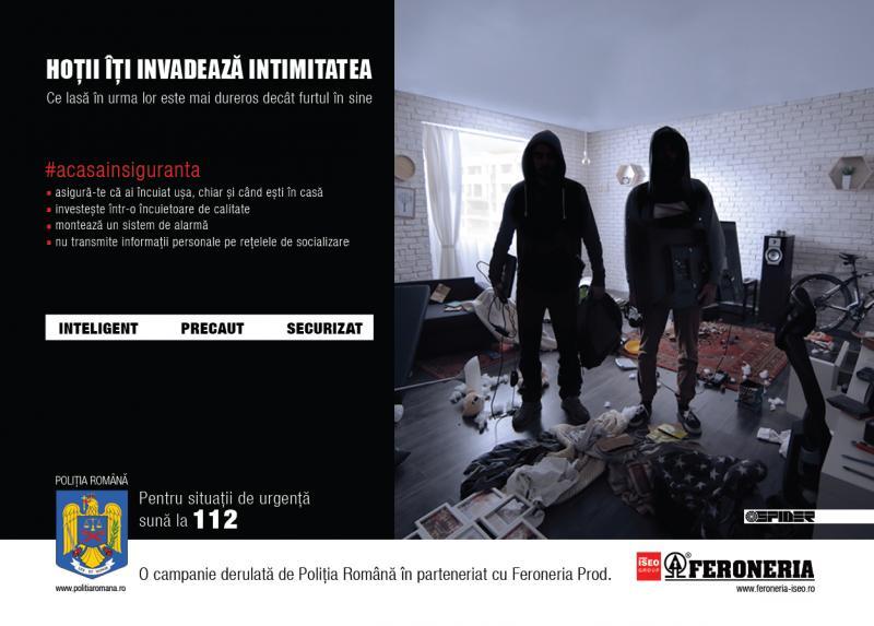 """""""HOȚII îți invadează intimitatea""""- Campanie de prevenire a furtului din locuințe"""