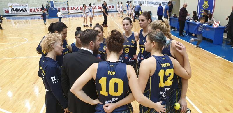 """Olimpia Brașov - FCC Baschet Arad 60-66: """"galben-albastrele"""" au făcut primul pas spre """"Final Four""""-ul Cupei României"""