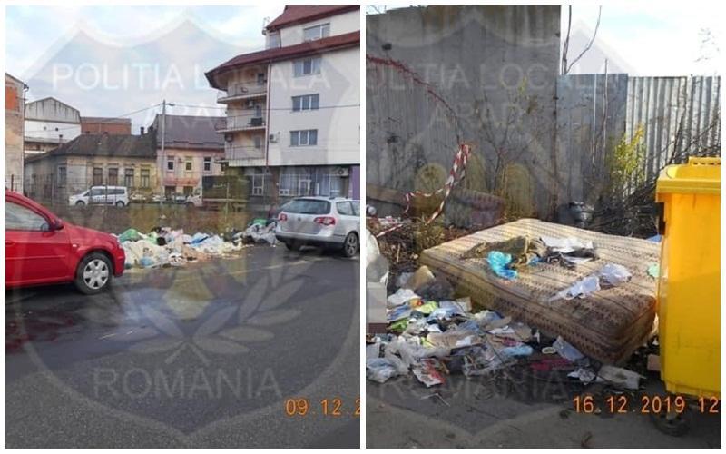 Operatorul de salubritate din municipiul Arad, amendat de Poliţia Locală