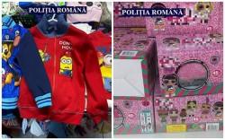 Dosare penale pentru jucării și haine contrafăcute