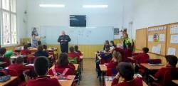 Polițiștii arădeni s-au întâlnit cu 60 de elevi de la Peda