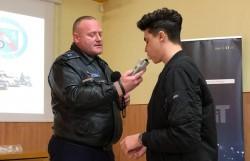 Ora de educație rutieră la Colegiul Național Vasile Goldiș din Arad