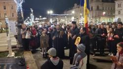 Zeci de arădeni au participat la Marșul Colindătorilor miercuri seara