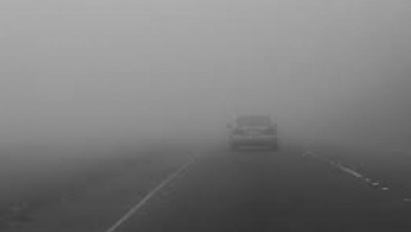 ATENȚIE șoferi ! Conduceți prudent, în orele ce urmează este COD galben de ceață