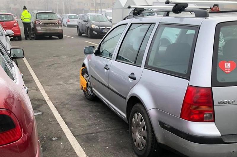 Bizonii se aleg cu ghiară pe roată în unele parcări din Arad