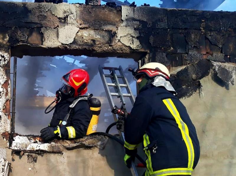 Clădire din Grăniceri salvată din ghearele focului