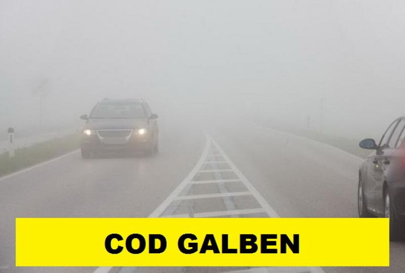 Avertizare Meteo! Cod galben de ceaţă în vestul ţării, inclusiv Arad