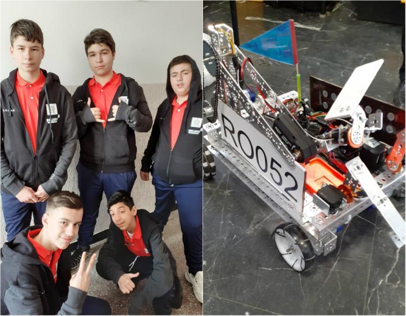 """RoboTeam Alpha - echipa de la Liceul Special ,,Sfânta Maria"""" care a construit un robot capabil să meargă"""