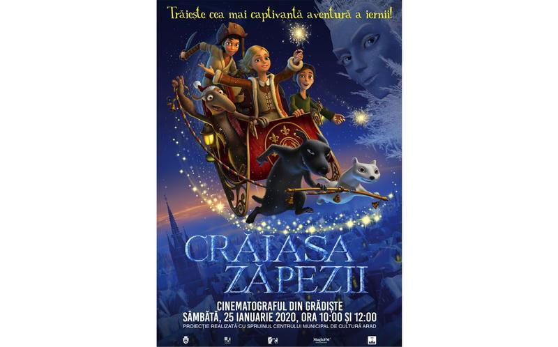 """Animația """"Crăiasa Zăpezii"""", la cinematograful din Grădiște"""