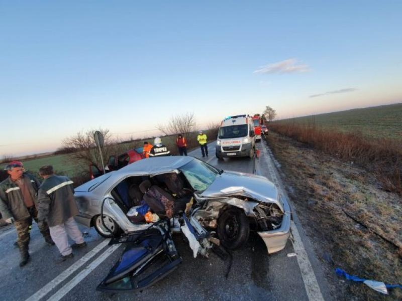TRAGEDIE în județul Timiș în urma unui accident rutier