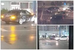 Accident cu Mercedes pe Banu Mărăcine