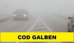 Alertă ANM: Cod galben de ceață în 27 de judeţe inclusiv Arad! Vizibilitate redusă pâna la 50 m în unele zone!
