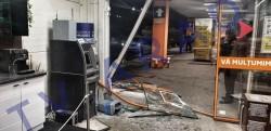 Bancomatul din incinta magazinului Dedeman vandalizat marți noaptea