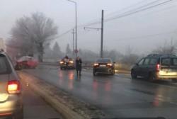 GRAV accident rutier, vineri dimineața, la ieșire din Arad spre Metro