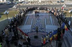 24 ianuarie: Hora Unirii, jucată pe platoul din fața Palatului Administrativ