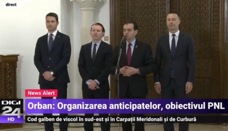 Preşedintele Iohannis îl preferă premier tot pe liberalul Ludovic Orban